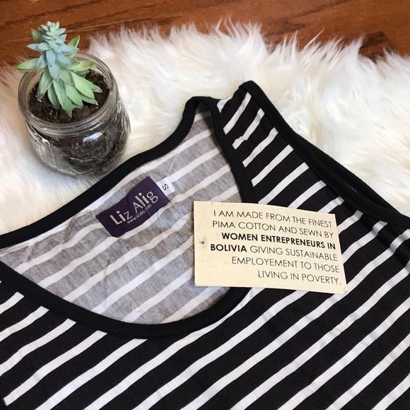 Liz Alig Dresses & Skirts - Fair Trade Striped Rosa Dress